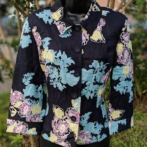SALE! EMMA JAMES Floral Linen Blazer